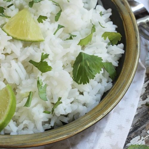 Arroz con limón y cilantro