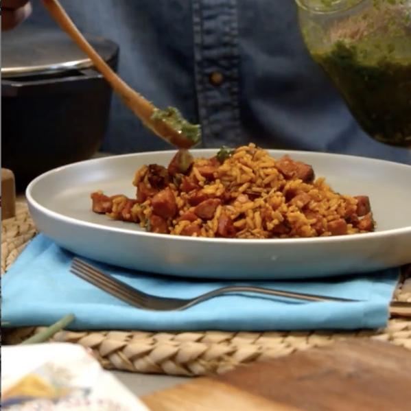 Arroz Criollo con Chorizo